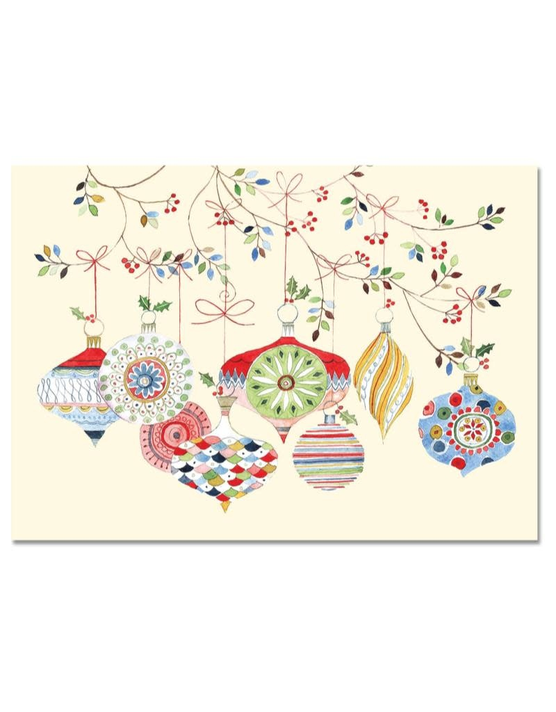 Peter Pauper Watercolor Ornaments Boxed Holiday Cards