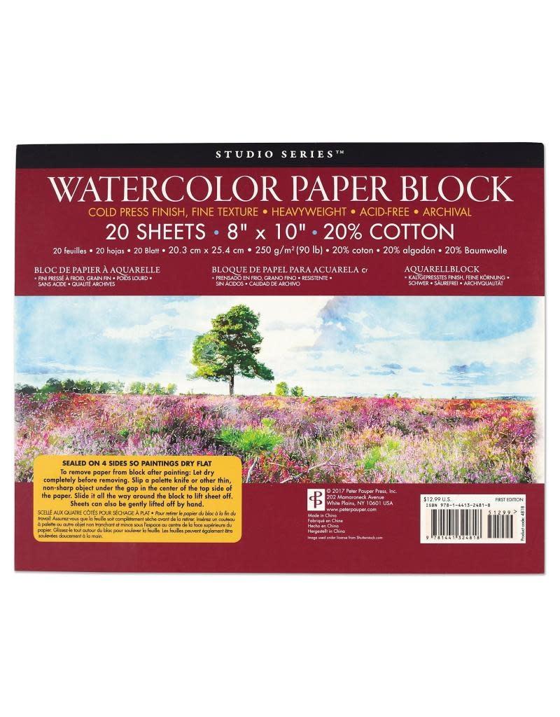 Peter Pauper Watercolor Paper Block