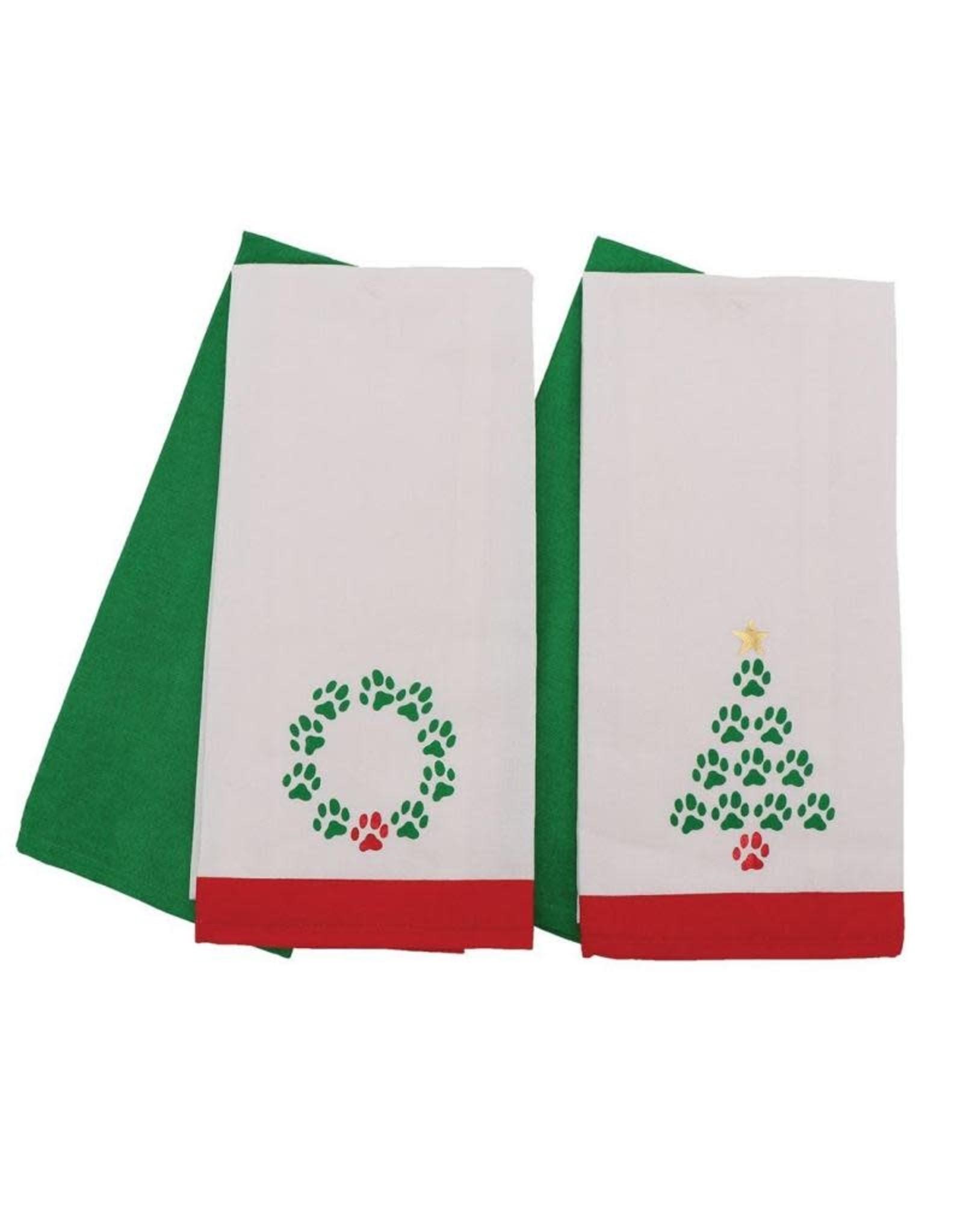 DEI Paw Print Dish Towels
