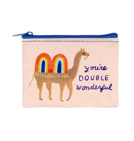 Blue Q You're Double Wonderful Coin Purse