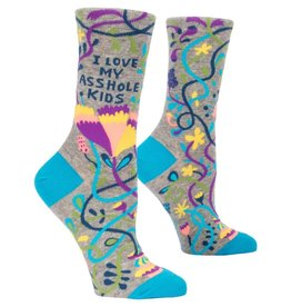 Blue Q I Love My Asshole Kids Women's Crew Socks