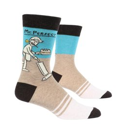 Blue Q Mr. Perfect Men's Crew Socks