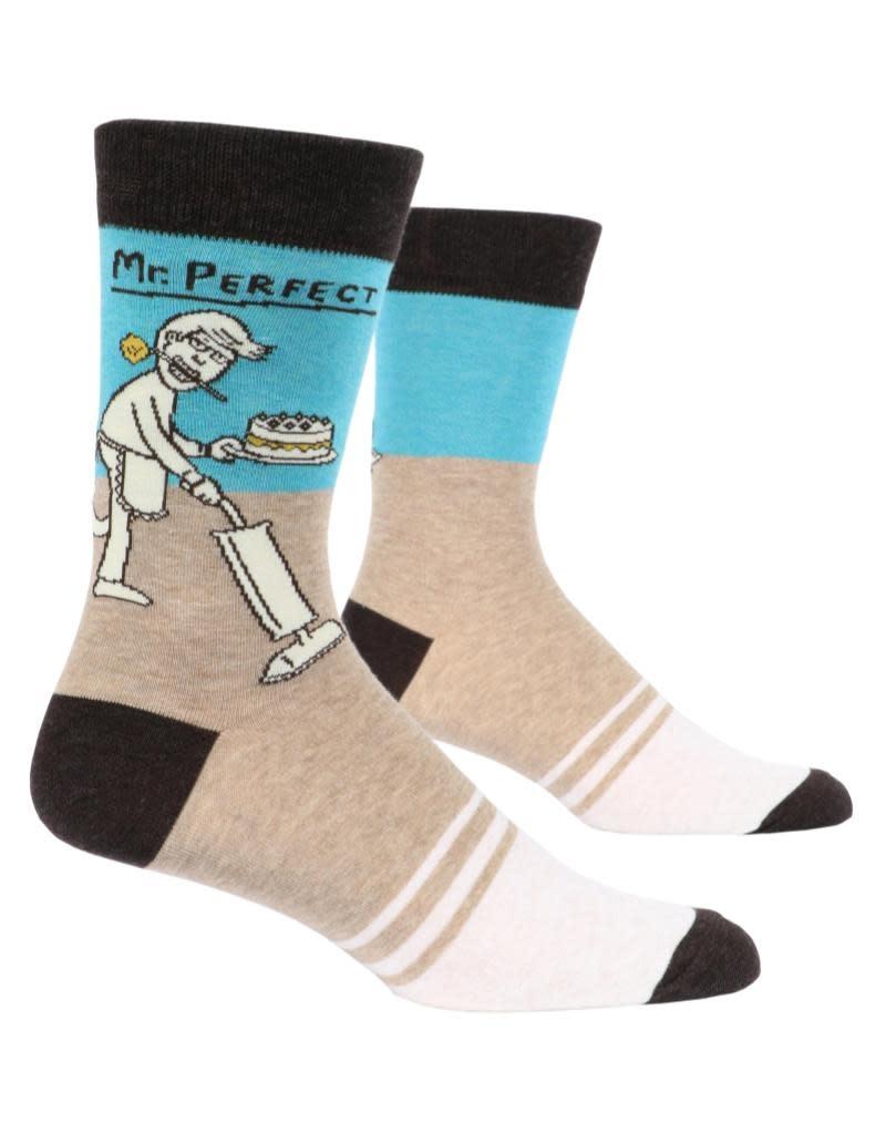 Blue Q Mr. Perfect Men's Crew Socks