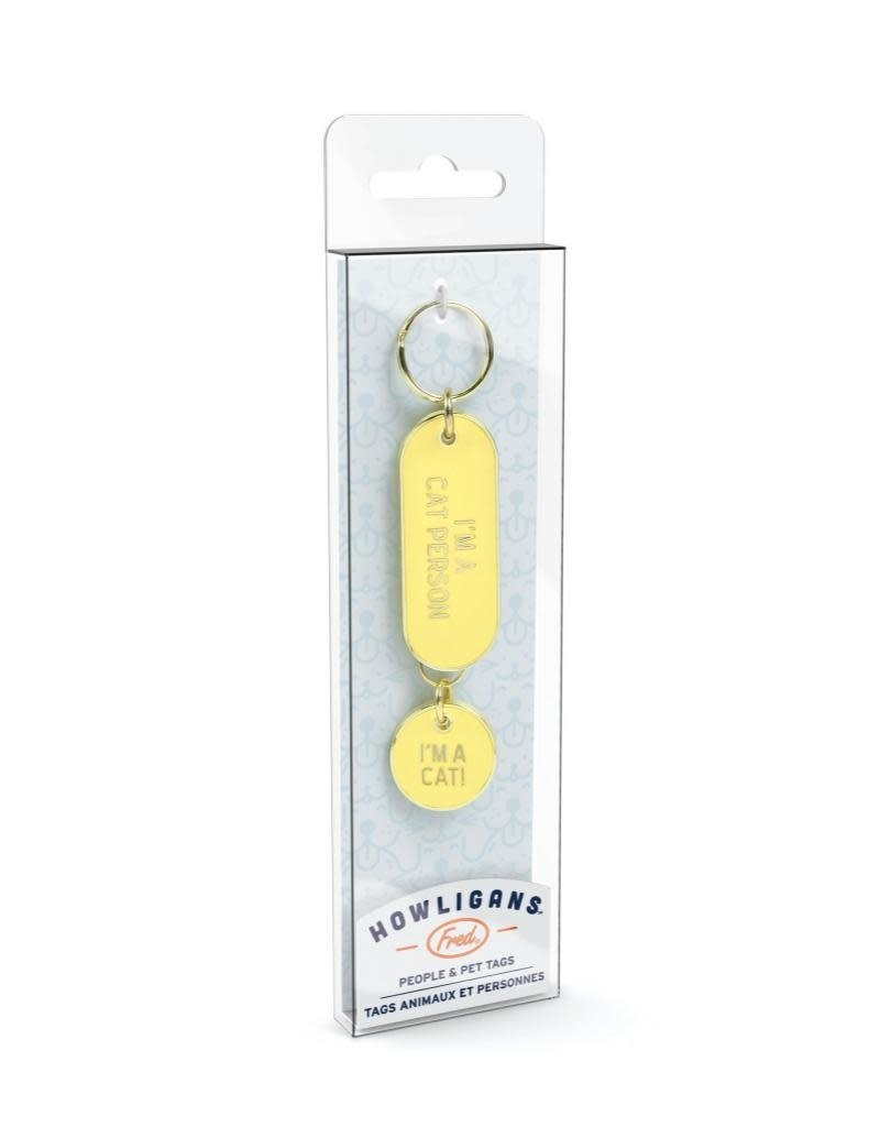 Fred Howligans Keychain & Pet Tag Set I'm A Cat Person