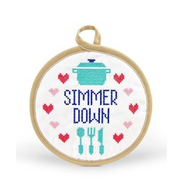 Fred In Stitches Potholder Simmer Down