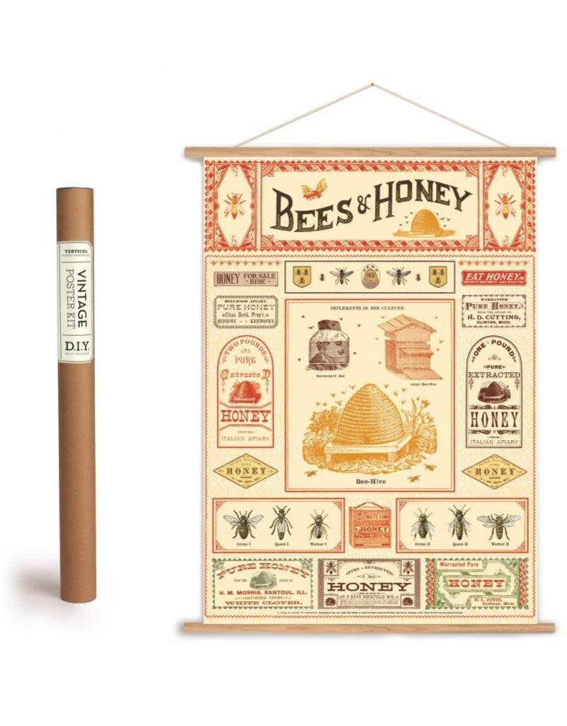 Cavallini Vintage Poster Kit Bees & Honey