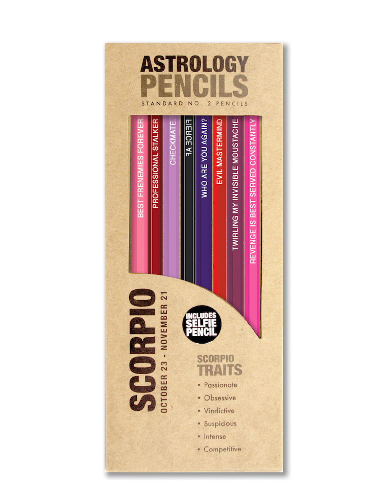 Whiskey River Soap Co. Astrology Pencils Scorpio