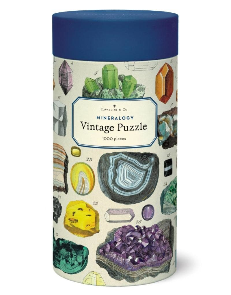 Cavallini Vintage 1000 Piece Puzzle Mineralogie