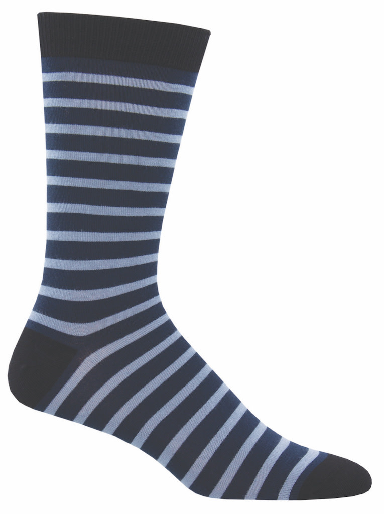 Socksmith Men's Navy Sailor Stripe Bamboo Socks