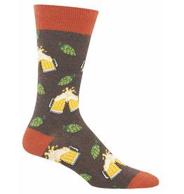 Socksmith Men's  Brown Heather Hoppier Together Socks