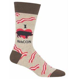 Socksmith Men's Hemp Heather Mmm Bacon Socks