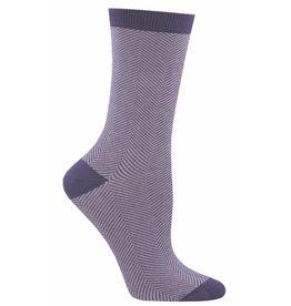 Socksmith Women's Purple Herringbone Bamboo Socks