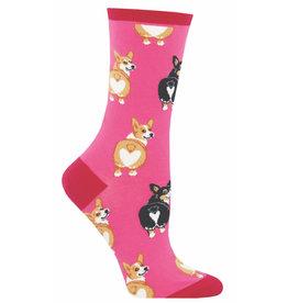 Socksmith Women's Pink Corgi Butt Socks