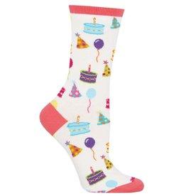 Socksmith Women's White Happy Birthday to You Socks