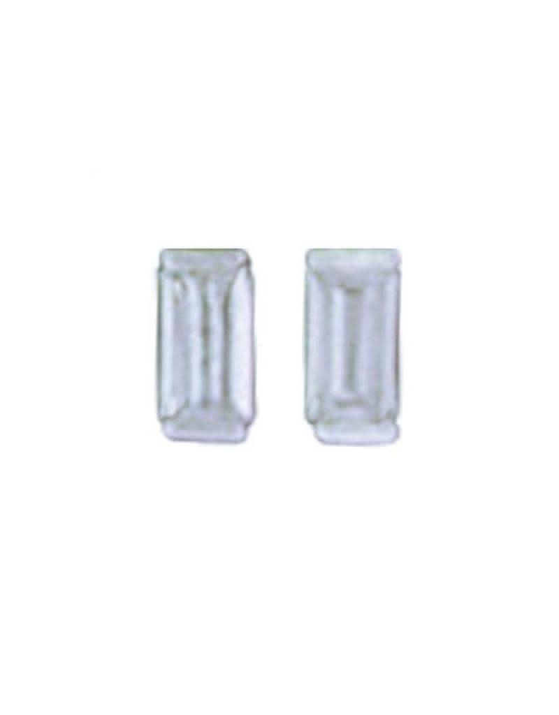 Acomo Jewelry Cubic Zirconium 4x2 mm Baguette  Earring