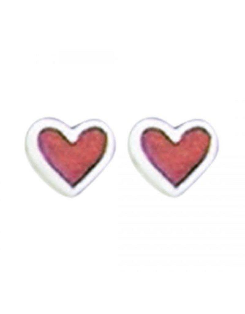 Acomo Jewelry Coral Heart Stud Earring