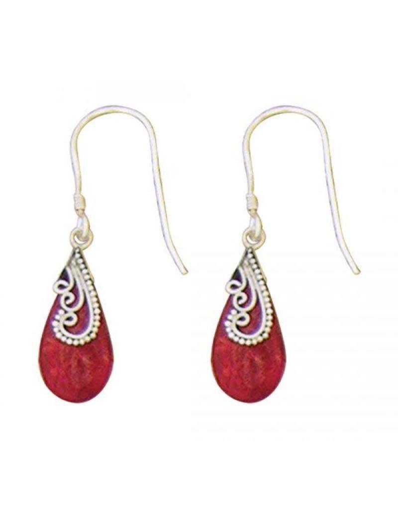 Acomo Jewelry Coral Teardrop Earring