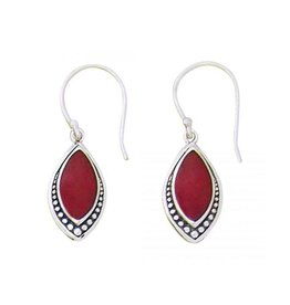 Coral Marquis Earring