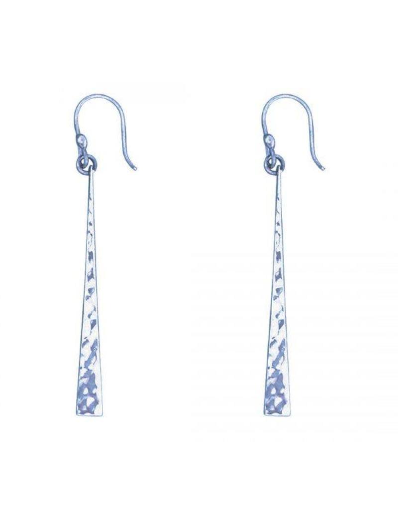 Acomo Jewelry Hammered Paddle Earring