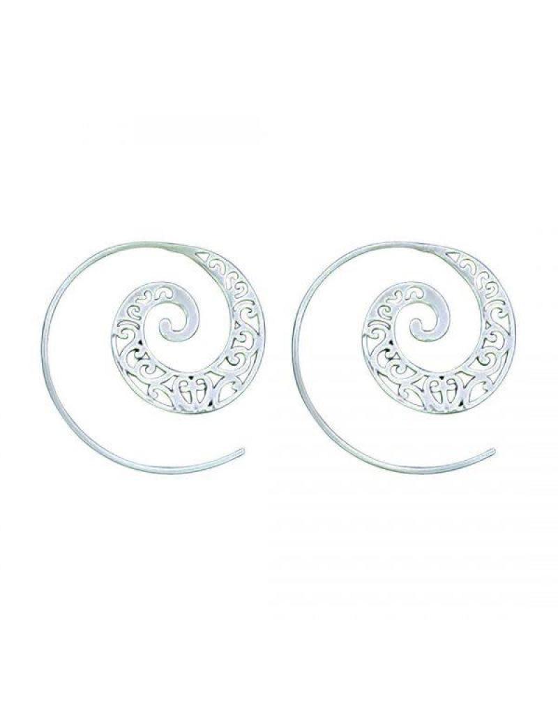 Acomo Jewelry Organic Pattern of Lines Tribal Earring
