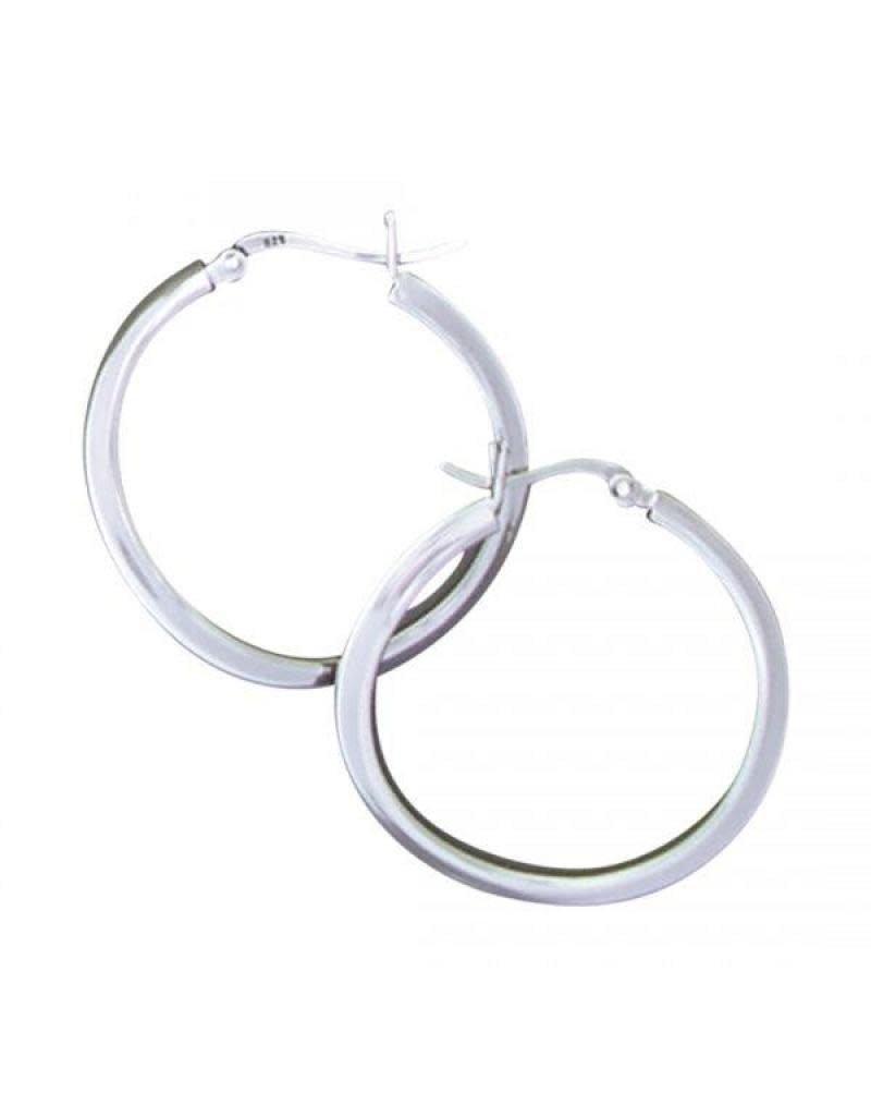 Acomo Jewelry Click Top 29mm Wave Hoop Earring