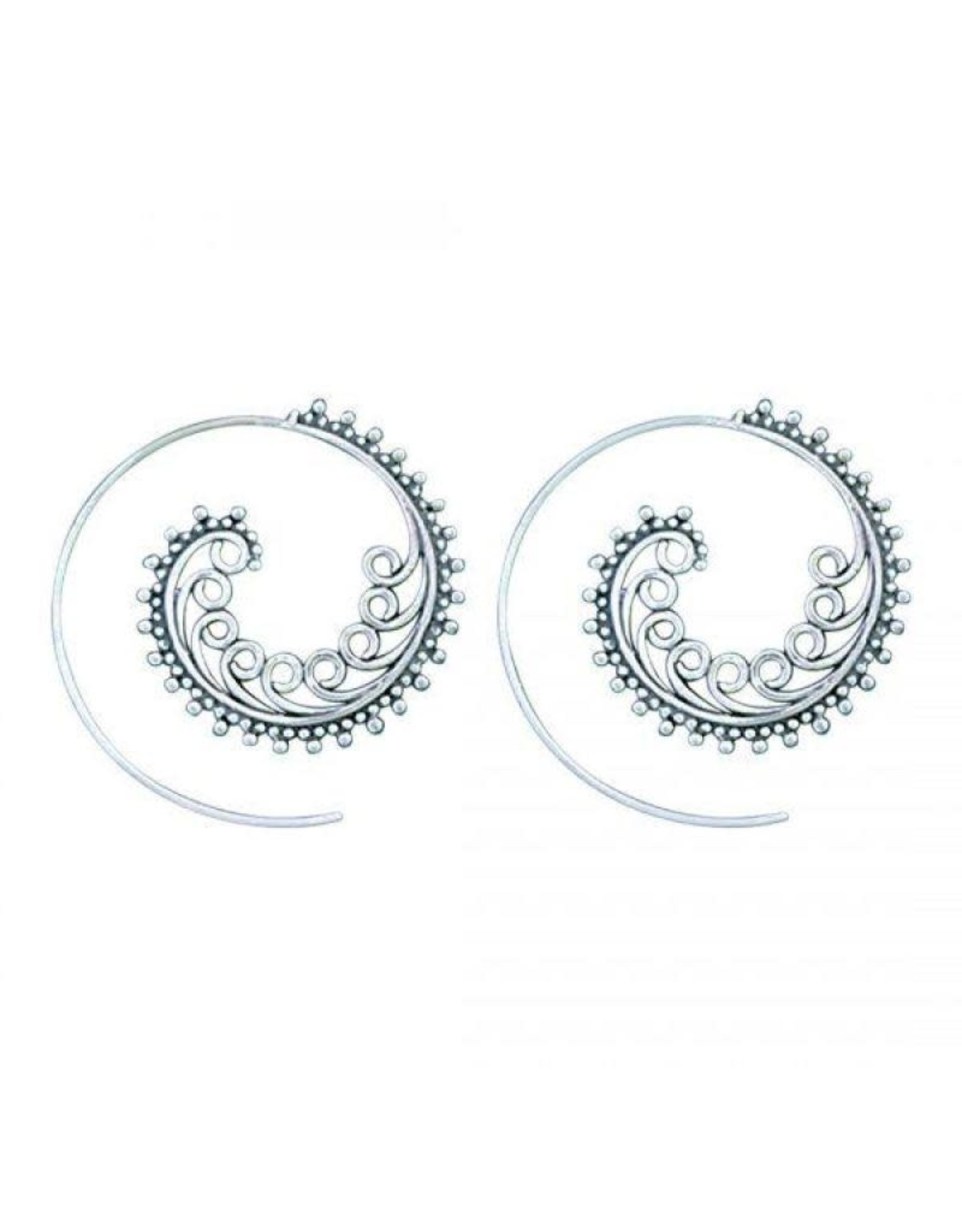 Dots And Twirls Tribal Earring