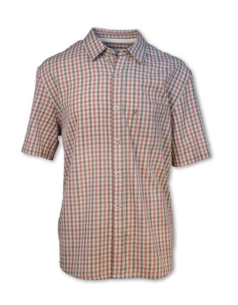 Purnell Men's Short Sleeve Checkered Shirt