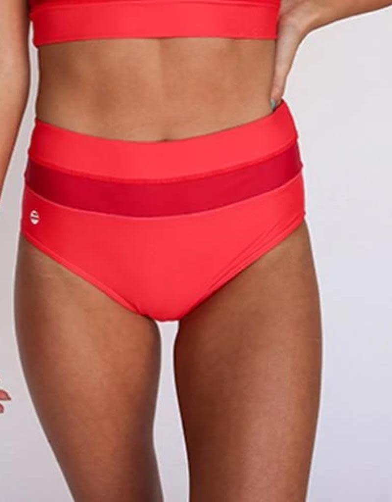 nani Swimwear Red Poppy Color Block Swim Bottom