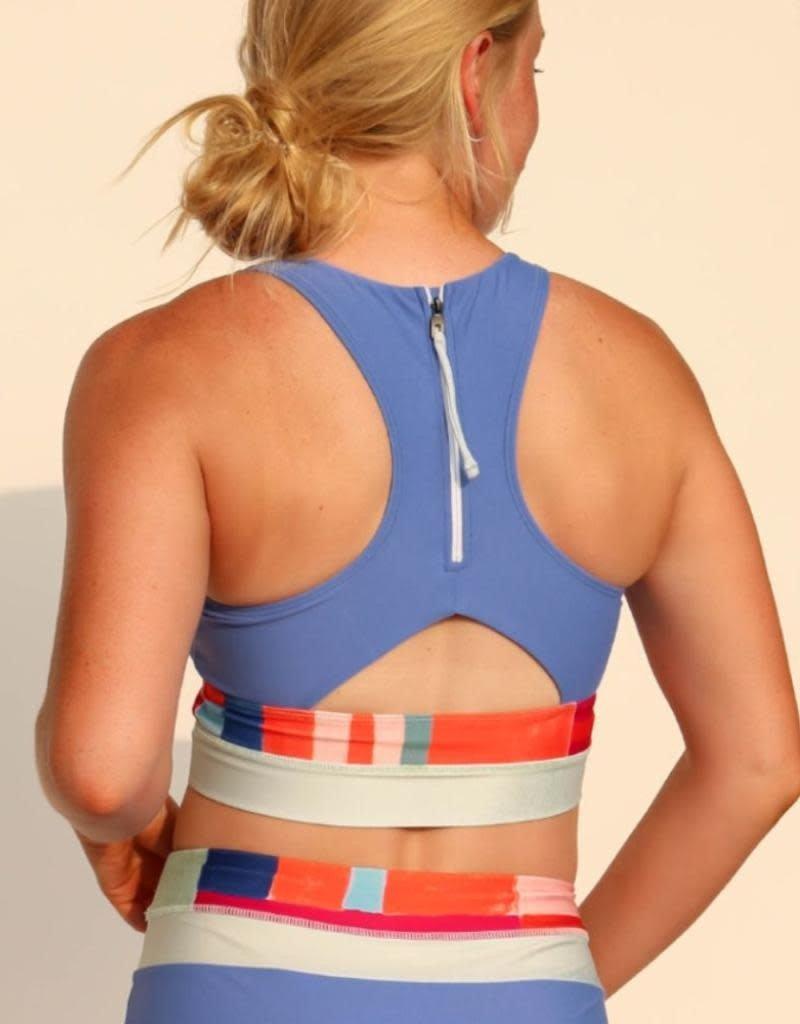 nani Swimwear Caribbean Cut Back Crop Swim Top