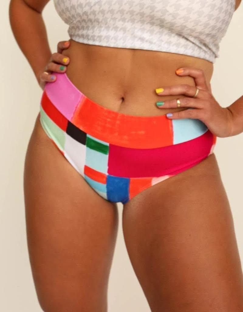 nani Swimwear Kaleidoscope Mid Rise Swim Bottom