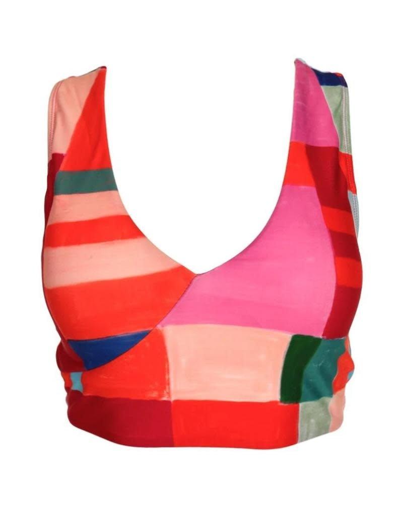 nani Swimwear Kaleidoscope Switch V Crop Swim Top