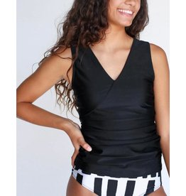 nani Swimwear Black Switch V Tankini