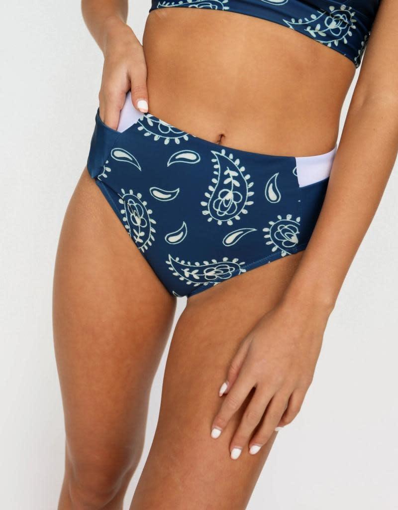 nani Swimwear Paisley Yoga Pocket Bottom