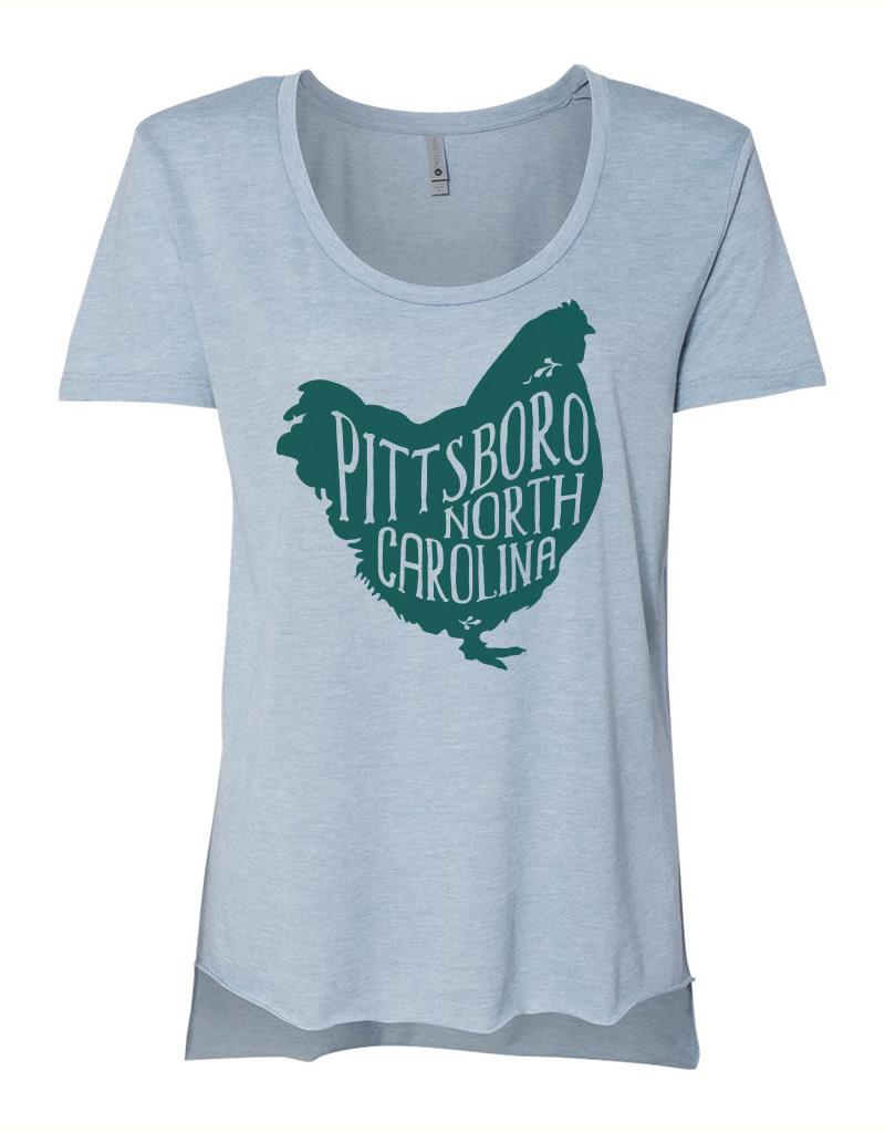 Flytrap Clothing Women's Pittsboro Festival Scoop Tee