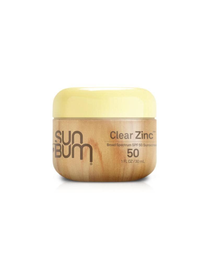 SUN BUM SPF 50 Clear Zinc Oxide  1 oz