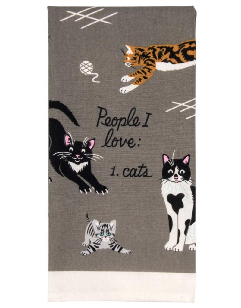 Blue Q People I Love: Cats Dishtowel
