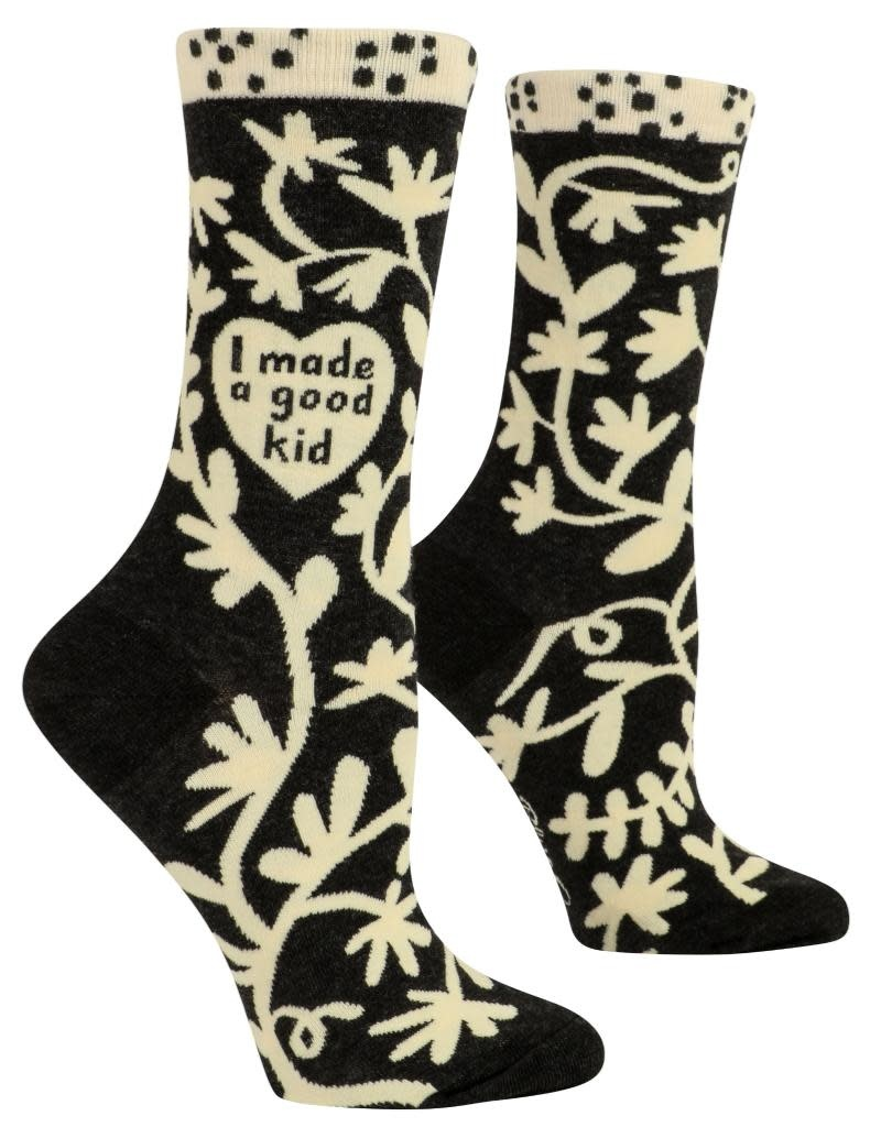 Blue Q I Made a Good Kid Women's Crew Socks