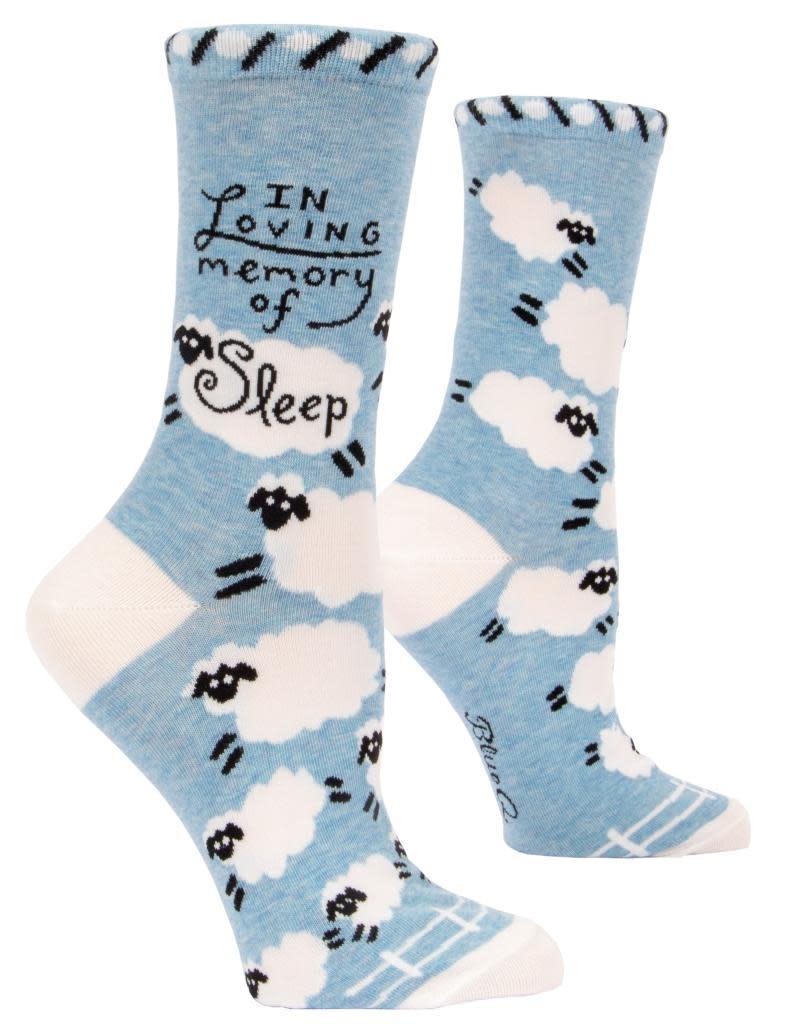 Blue Q Loving Memory of Sleep Women's Crew Socks