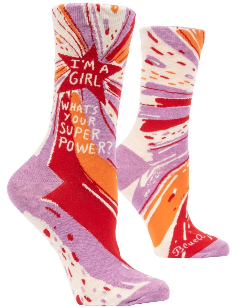Blue Q Superpower Women's Crew Sock