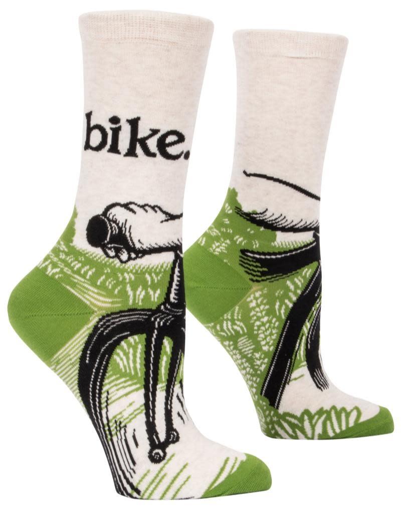 Blue Q Bike Path Crew Socks