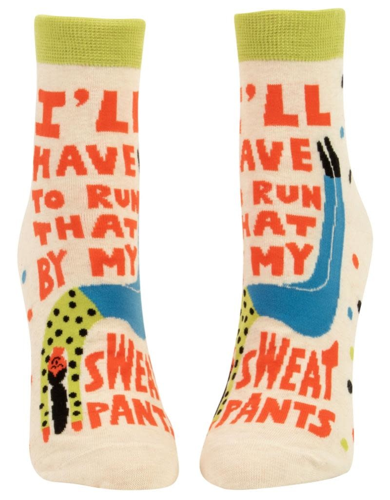 Blue Q Run That By My Sweatpants Women's Ankle Socks