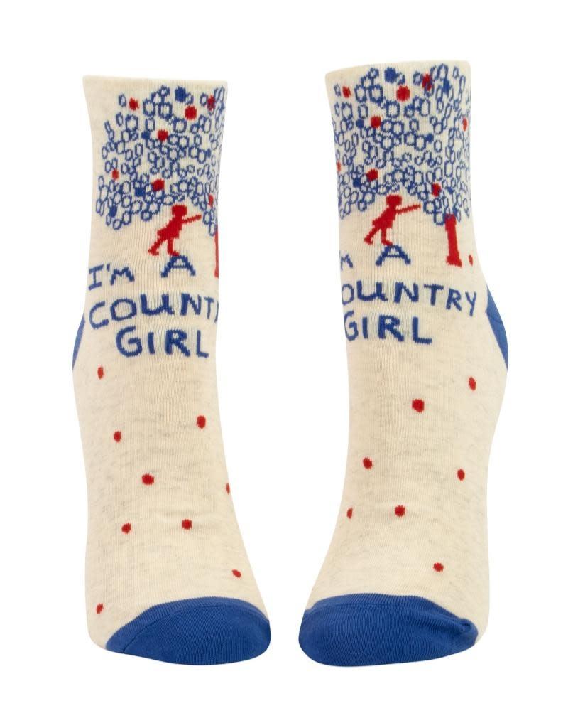 Blue Q I'm A Country Girl Women's Ankle Socks