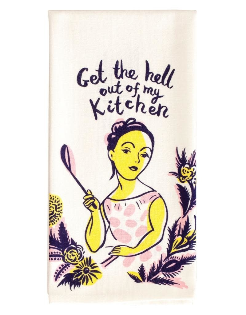 Blue Q Get The Hell Out Dishtowel