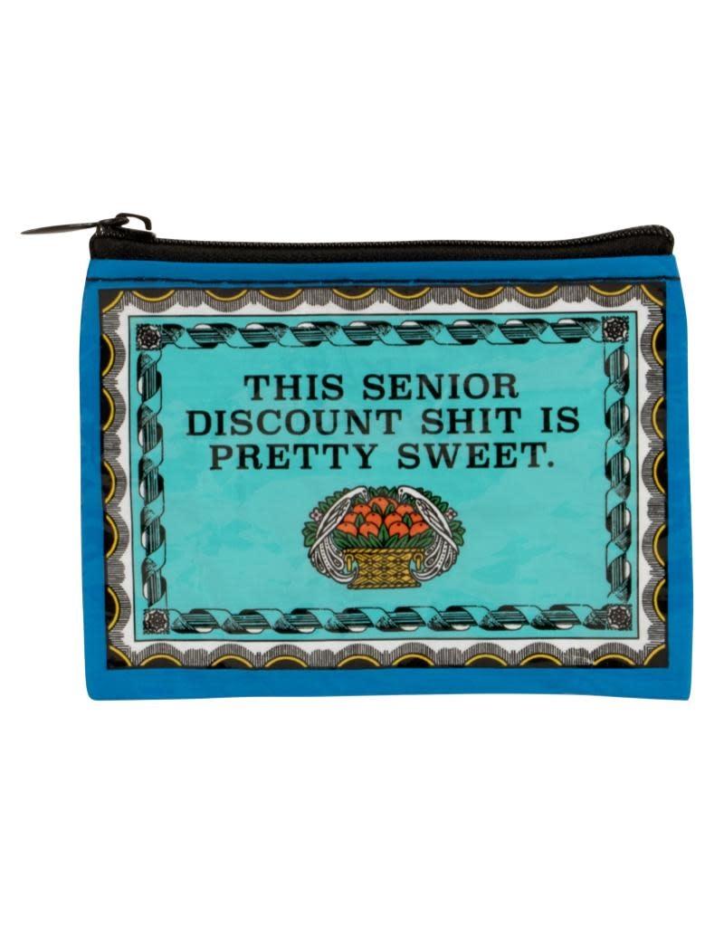 Blue Q This Senior Discount is Sweet Coin Purse
