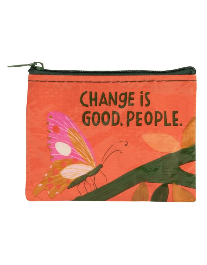 Blue Q Change Is Good People Coin Purse