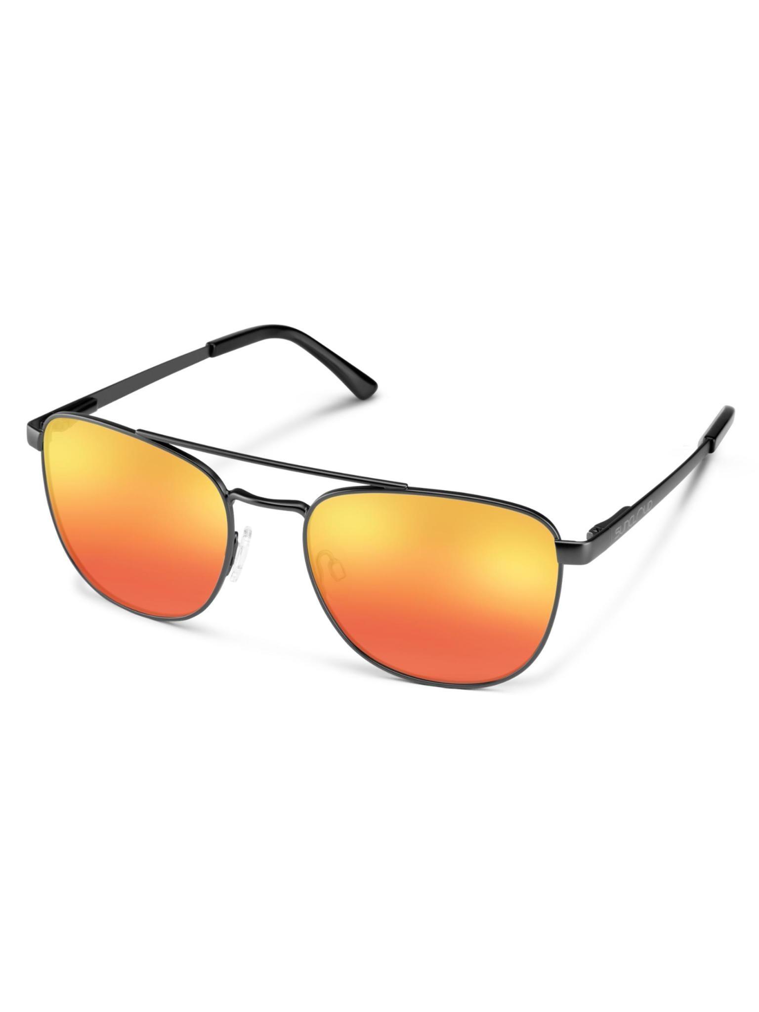 Fairlane Sunglasses Matte Black Polarized Red Mirror