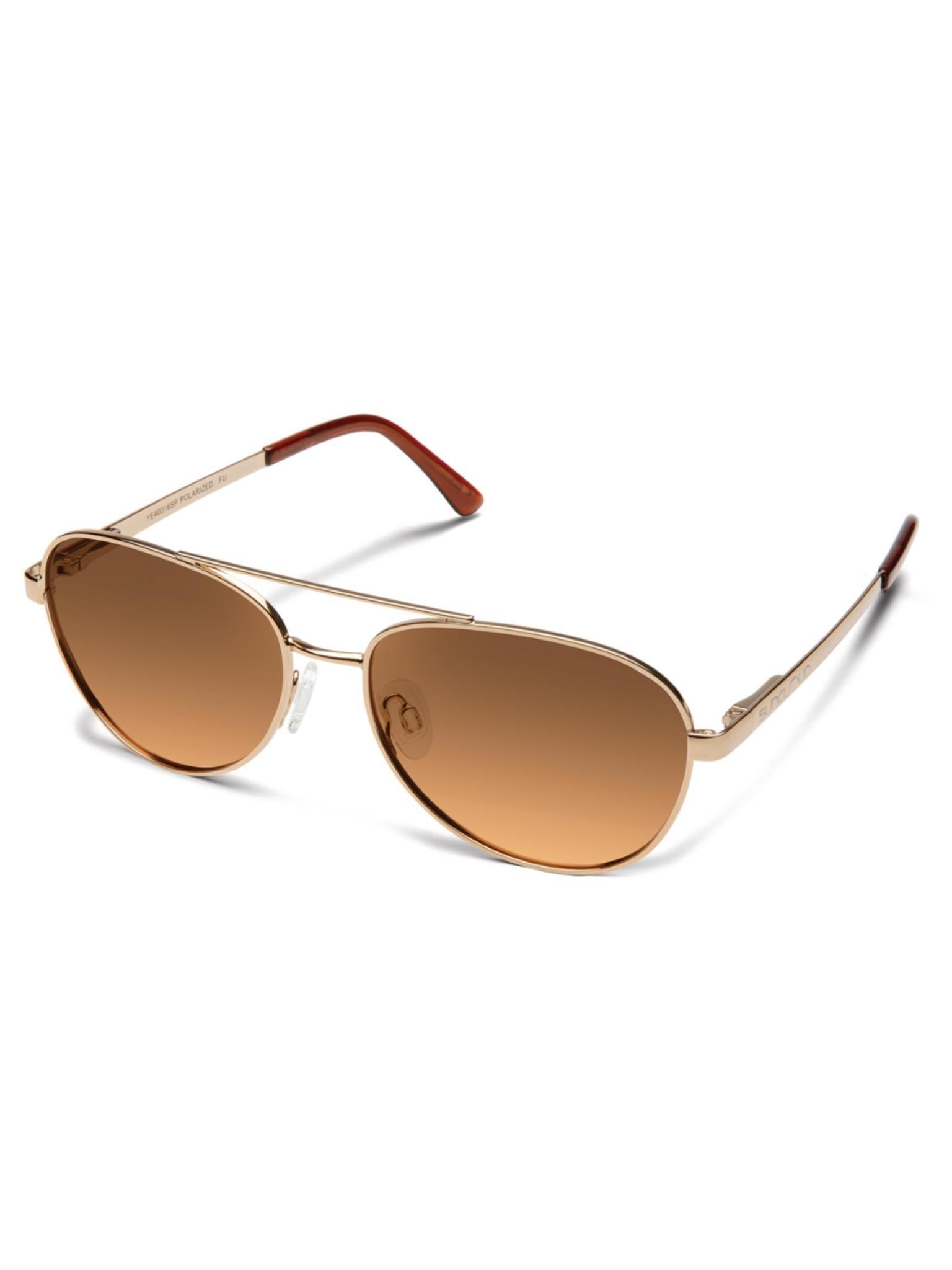 Callsign Sunglasses Rose Gold Polarized Brown