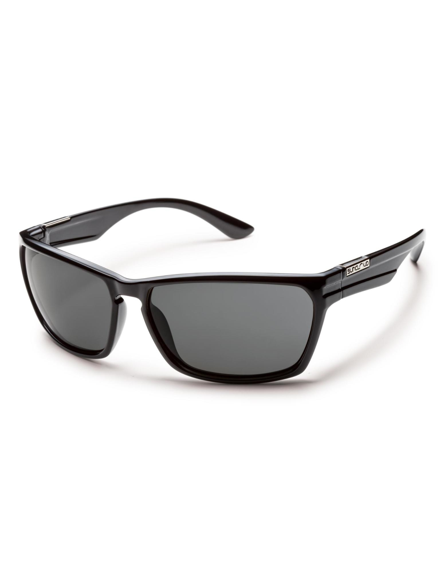 Cutout Sunglasses Black Polarized Grey