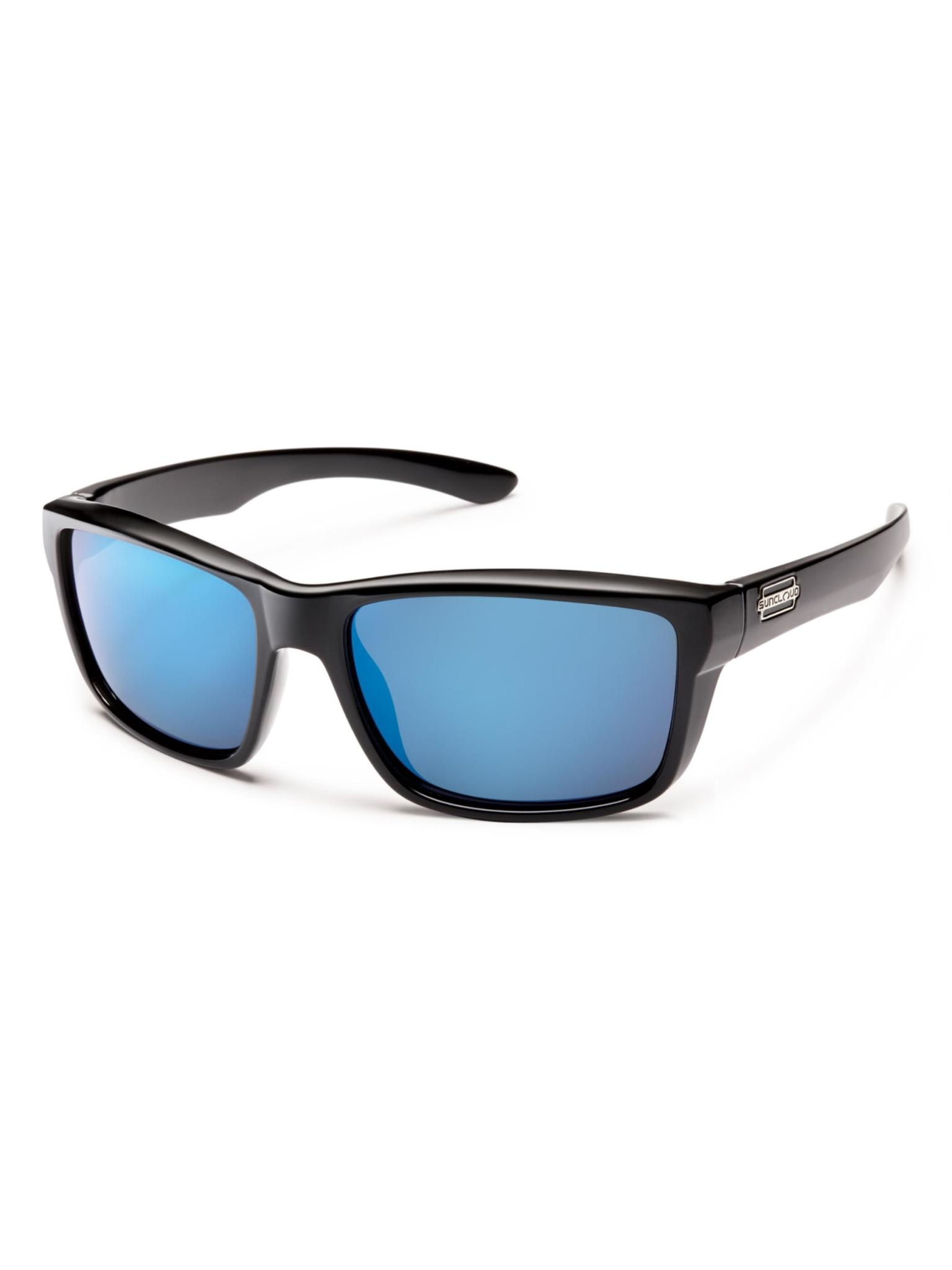 Mayor Sunglasses Black Polarized Blue Mirror