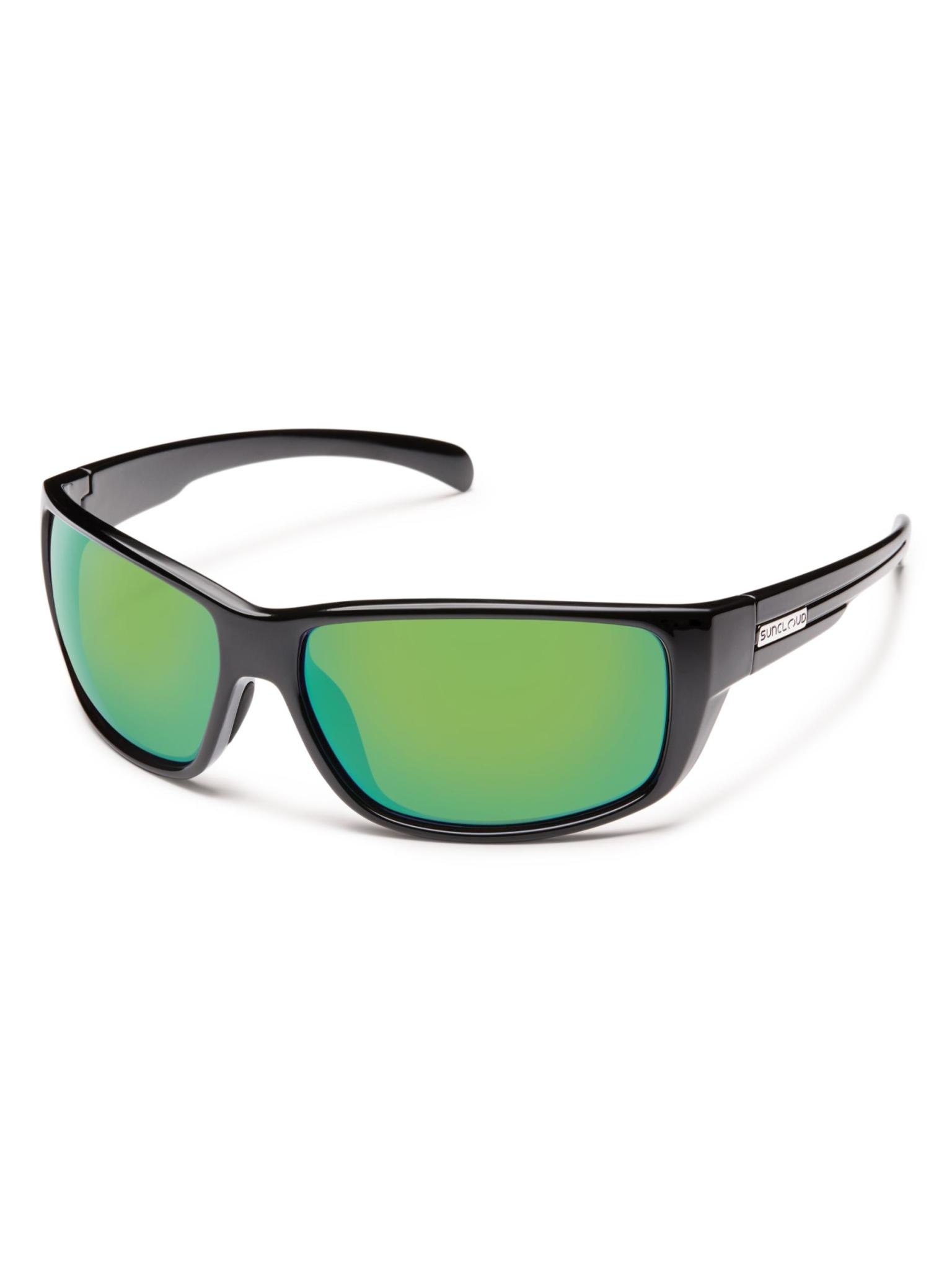 Milestone Sunglasses Black Polarized Green Mirror